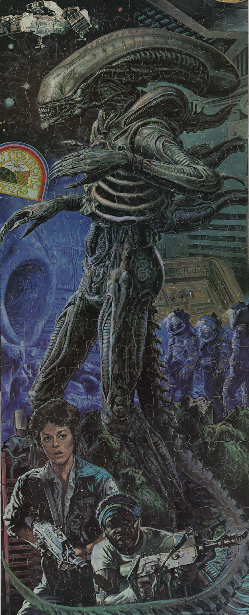 image and lines on alien