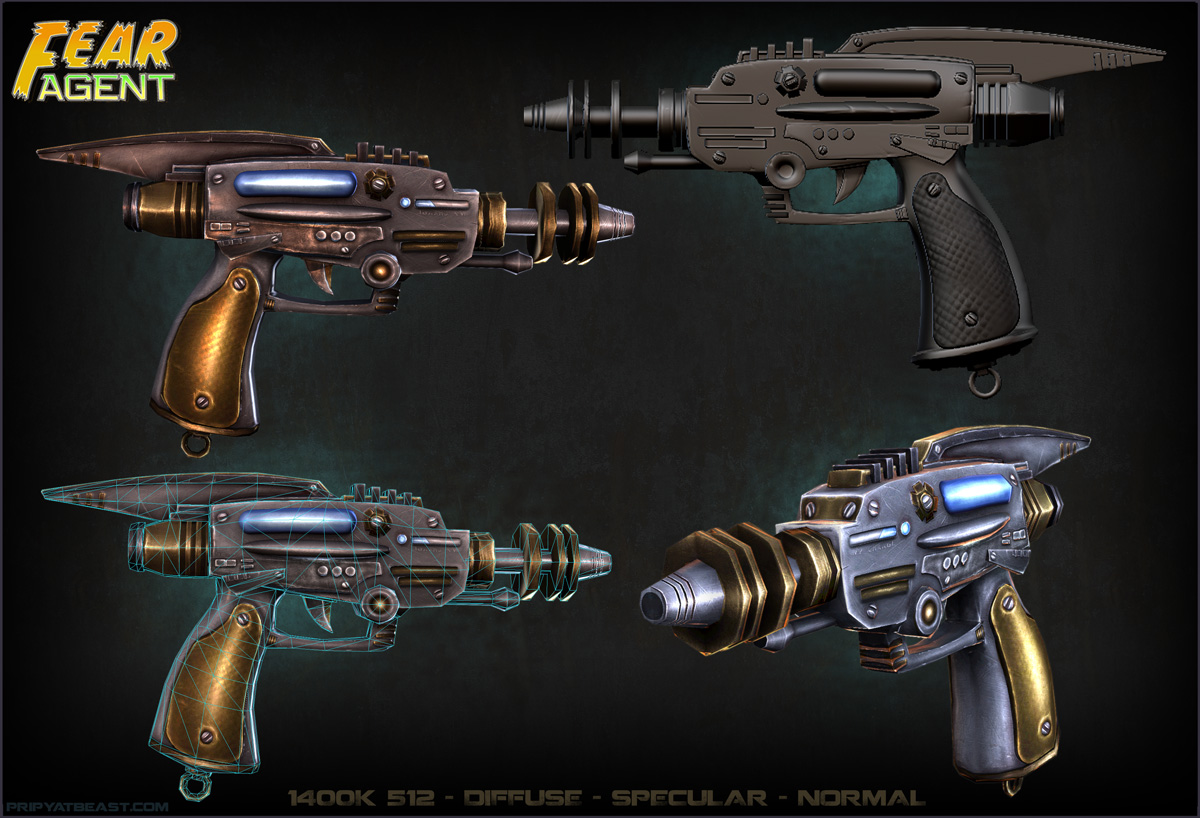 Fearagent Gun Fear Agent Character Wip Polycount
